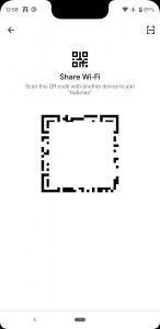 Android-Q-share wifi QR code